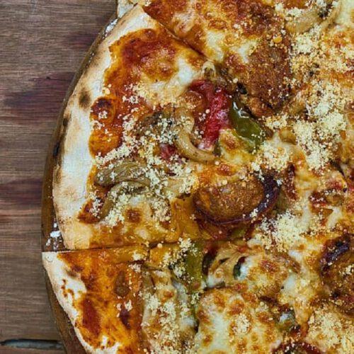 pizza champiñones rucula